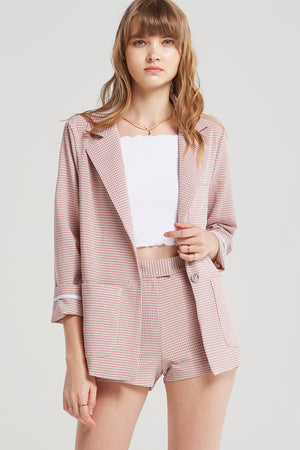 Kyra Shepherd Check Jacket Set
