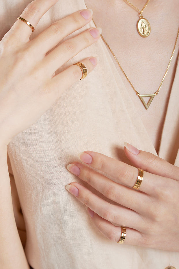 storets.com Layering 10 Set Ring-Gold
