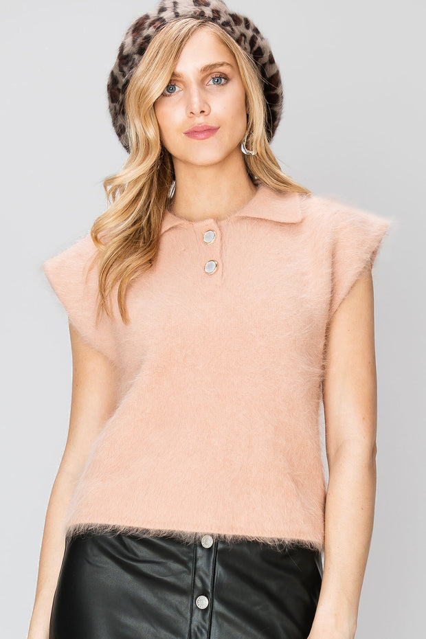 Lilina Cap Sleeves Angora Top-2 Colors