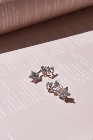 Little Star Earrings-Silver