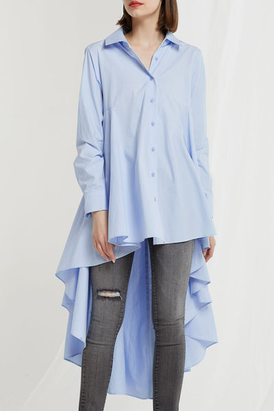 Livia Asymmetric Flare Long Shirt