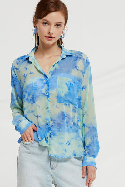 Lorelei Tie Dye Sheer Blouse