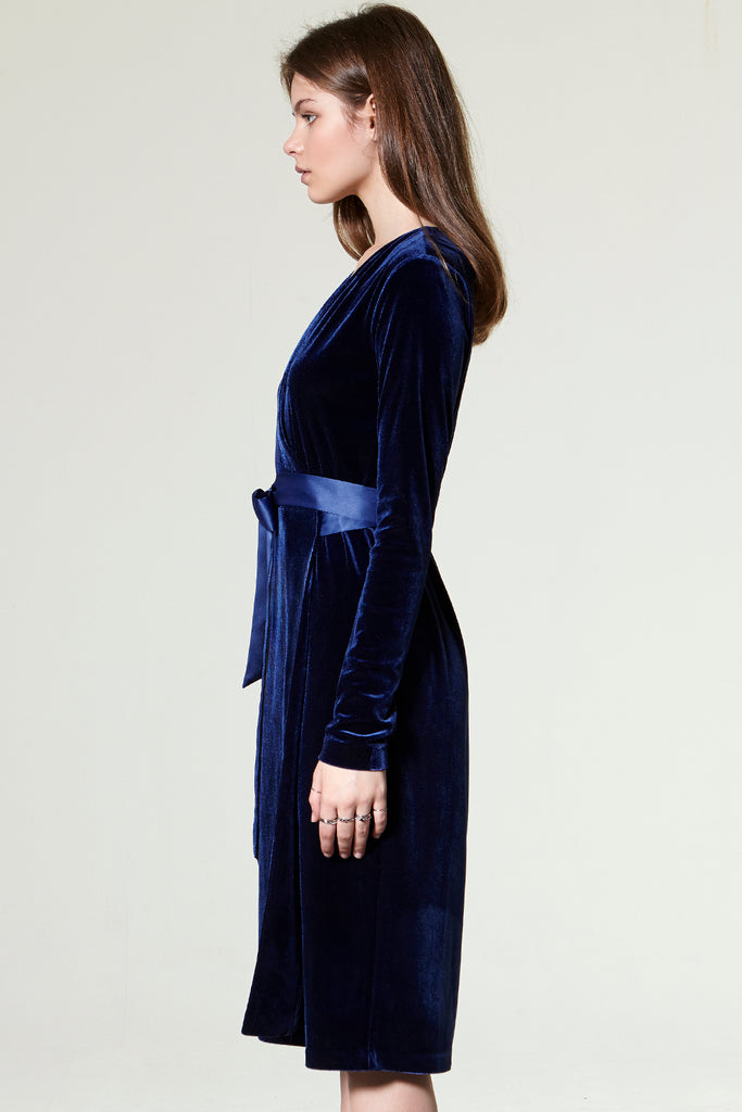 Gina Velvet Wrap Dress