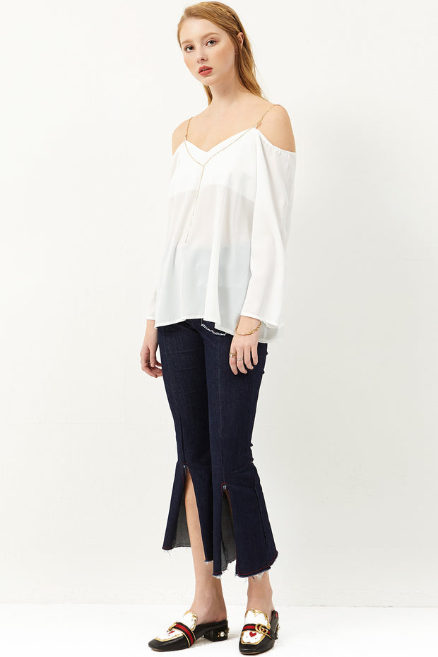 storets.com Shianne Cold Shoulder Blouse