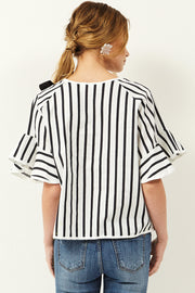 storets.com Fay Ribbon Stripe Top