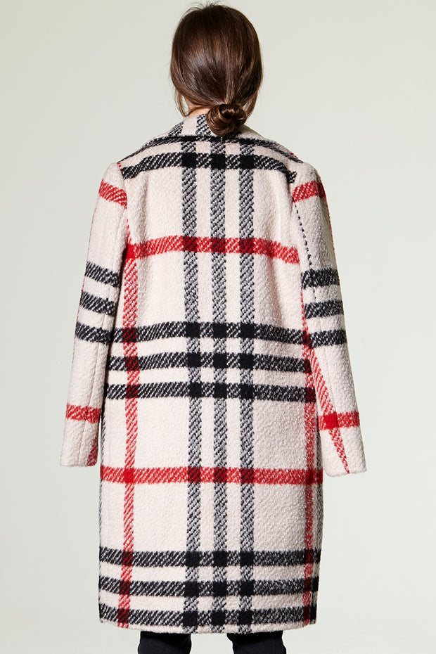 Mia oversize plaid woolen coat