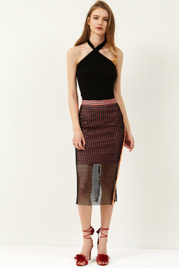 Sharry Punching Line Skirt