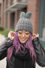 CYNTHIA LEU - FUNNY BUNNY BEANIE - GREY - Shop Double Icon