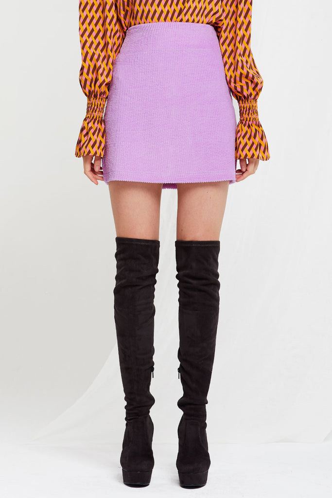Madeline Cord Skirt in Candy Colors