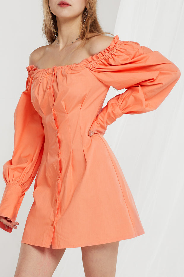 Marta Off Shoulder Puff Sleeves Dress