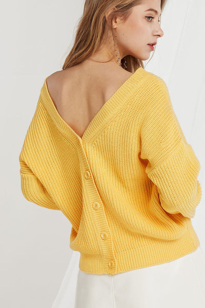 Meri V-Neck Two Way Cardigan