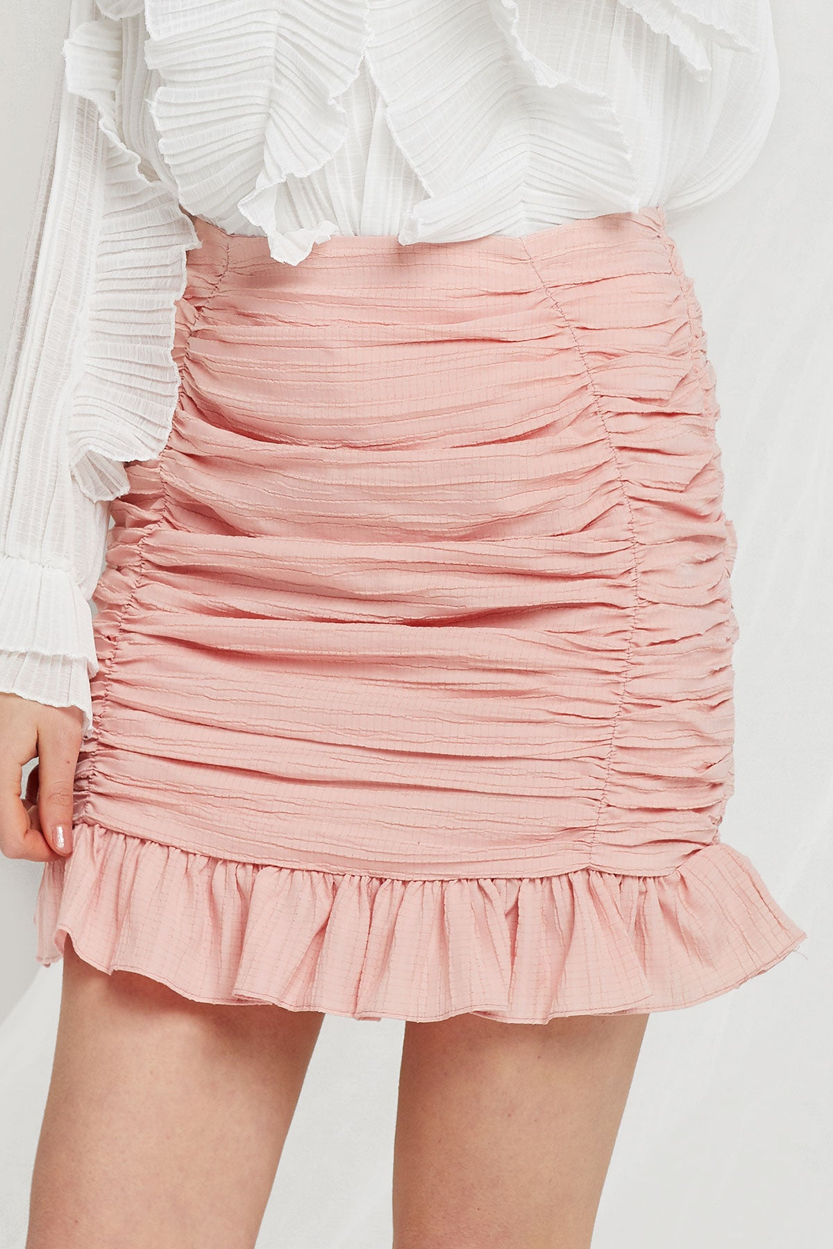 Merina Shirred Ruffle Skirt