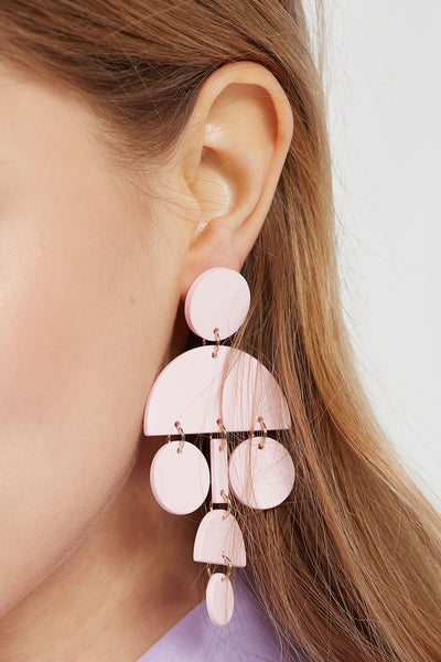 Statement Earrings in Pink