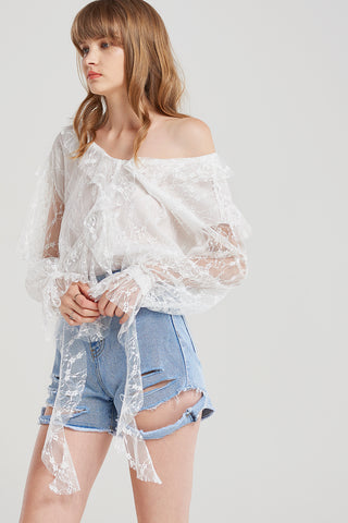 Monique Lacey Lace Blouse