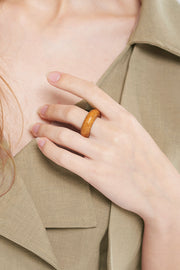 Natural Wood O-ring-Brown