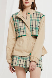 Nava Plaid Utility Jacket