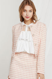 Nicki Grid Tweed Jacket by STORETS