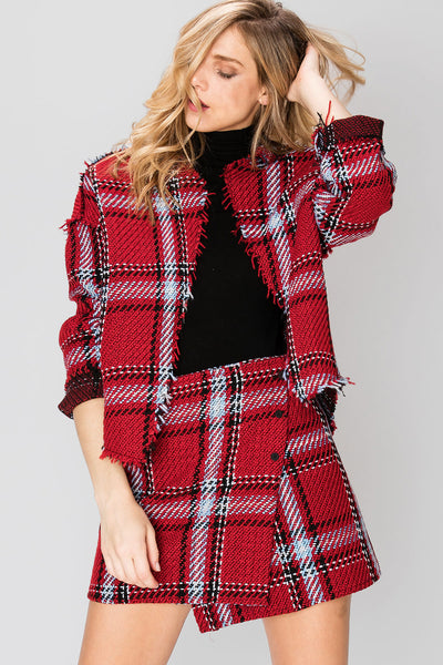 Nora Plaid Tweed Jacket