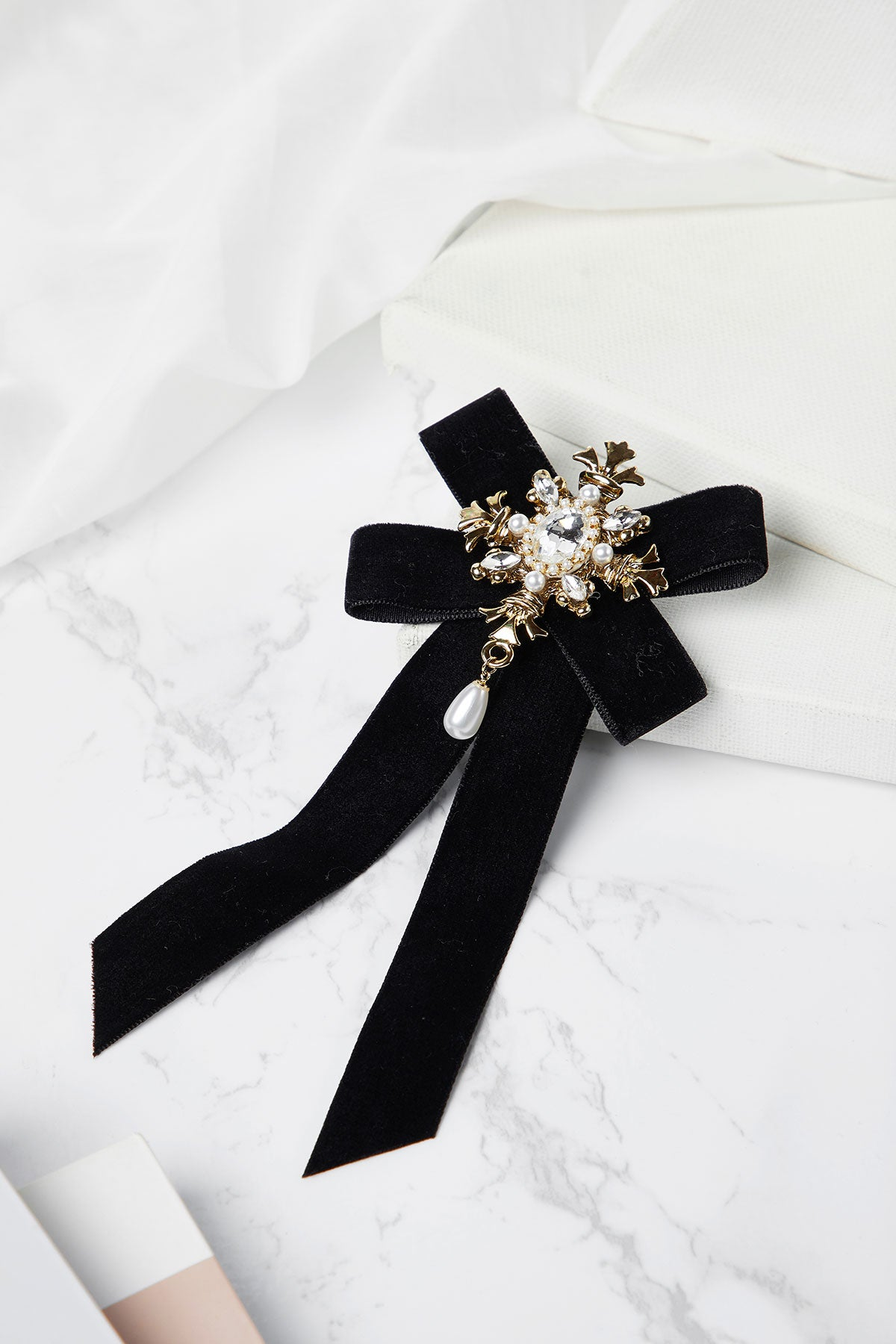 Ornate Velvet Brooch