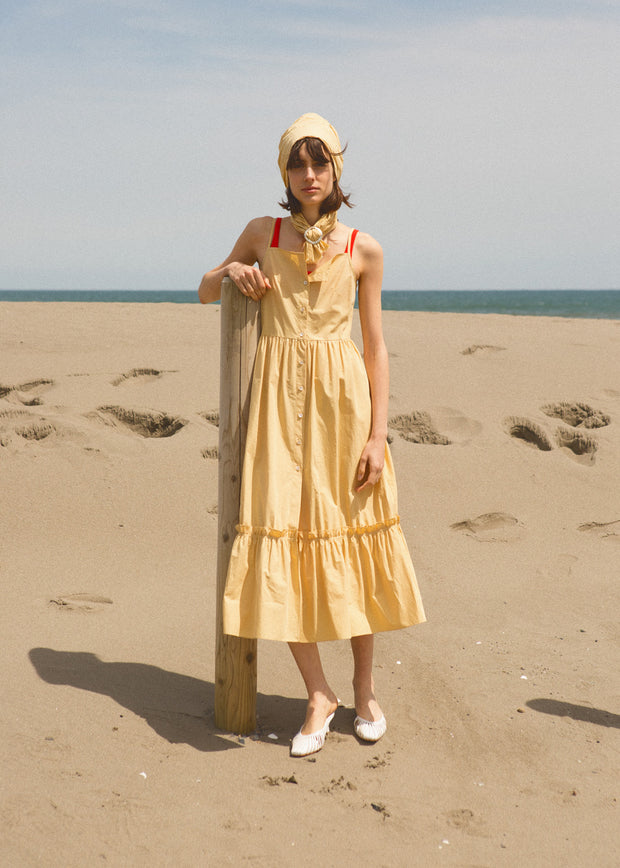 [LETQSTUDIO] Cotton Tank Dress, Butter Yellow