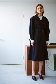 [LETQSTUDIO] Light Weight Tranch Coat_Navy
