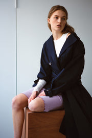 [LETQSTUDIO] Layered Rib Skirt_Lavender