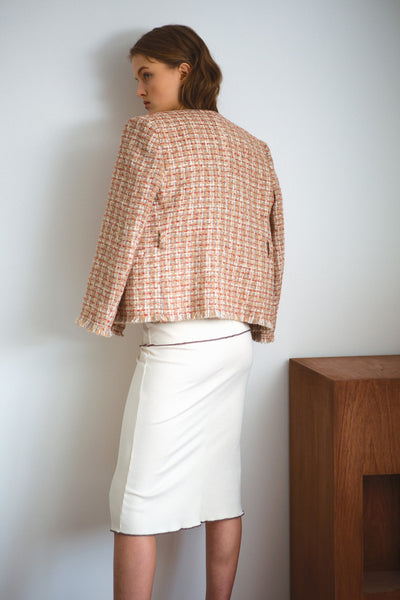 [LETQSTUDIO] Layered Rib Skirt_Ivory