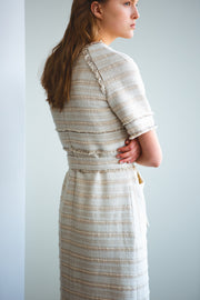 [LETQSTUDIO] Tweed Tiered Dress_Ivory