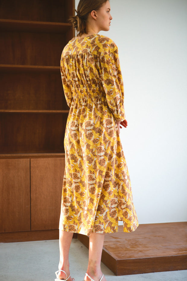 [LETQSTUDIO] Elasticated Waist Dress_Yellow