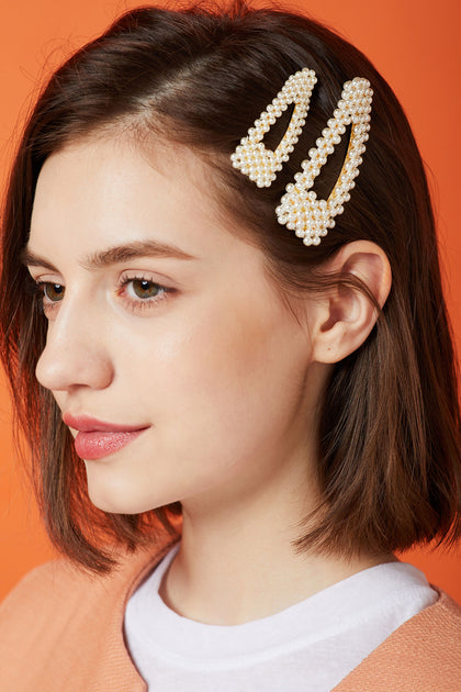 5ad9a4204 Beaded Pearl Hair Clip in Mini Size | Women's Hair & Hats | storets