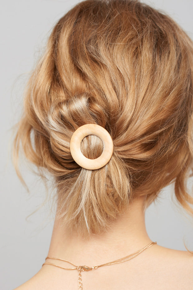 Pine O-ring Hair Tie-Beige