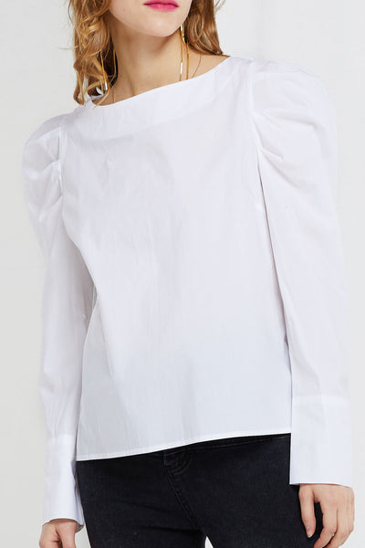Laurensia Puffed Sleeves Blouse