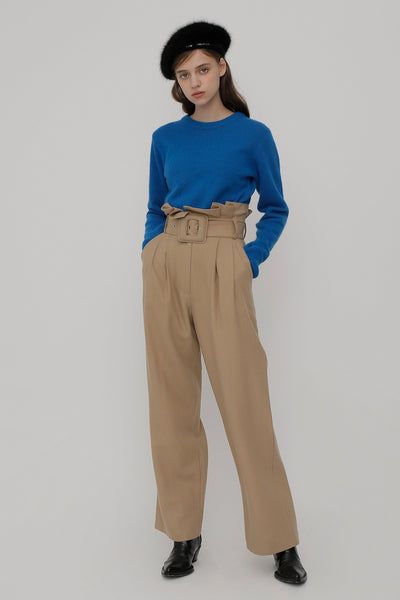 [ROCKETXLUNCH] R Big Belt Tuck Pants
