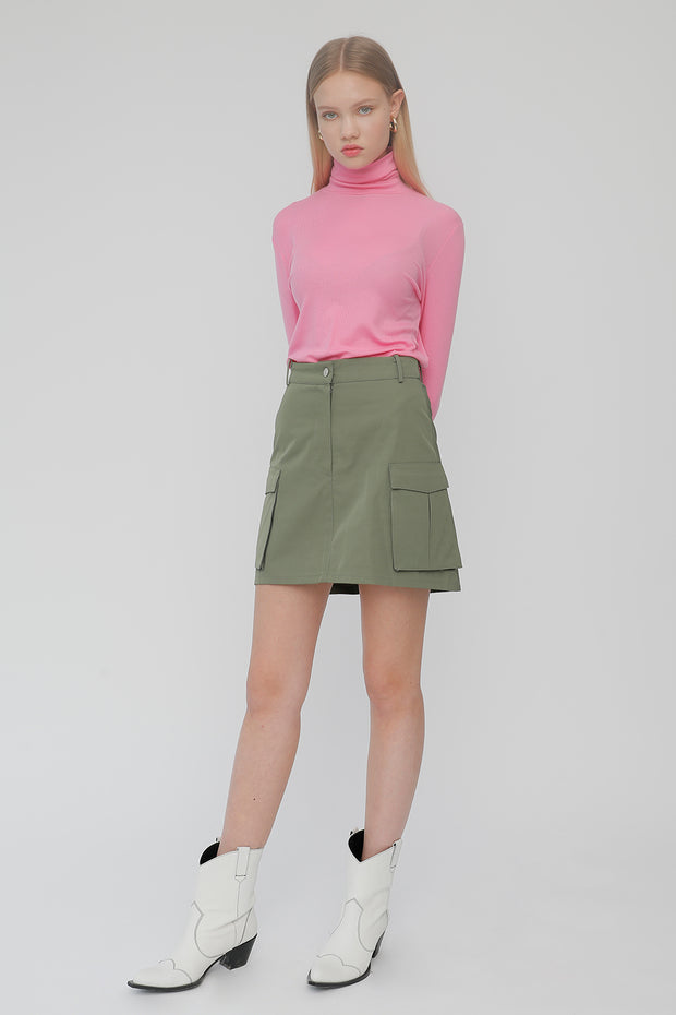 [ROCKETXLUNCH] R Big Pocket Line Skirt