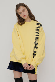 [ROCKETXLUNCH] R Timeslip Sweatshirt_Yellow_Unisex
