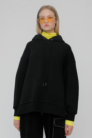 [ROCKETXLUNCH] R Turtleneck Layered Hoodie_Unisex