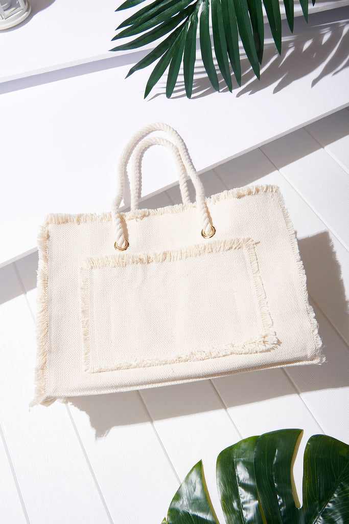 Rope Canvas Bag-Ivory