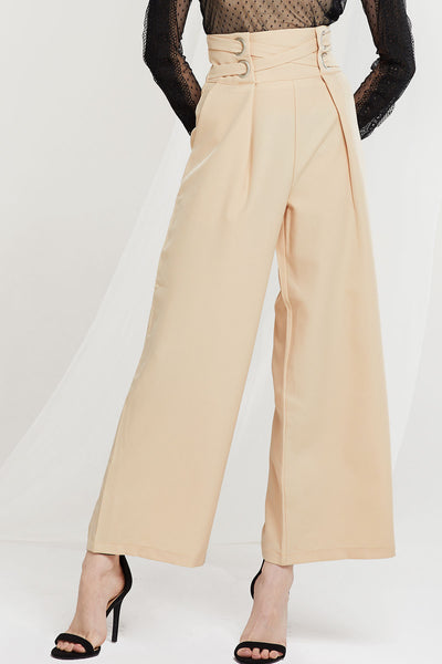 Rosie Double Belted High Waist Pants