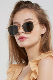 Round Square Sunglasses-Black