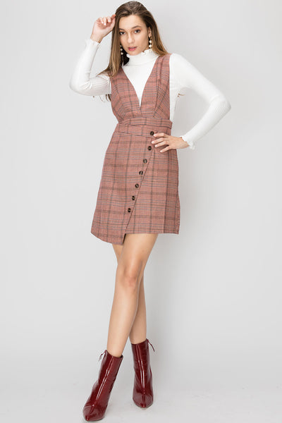 Sadie Wrap Effect Overall Dress