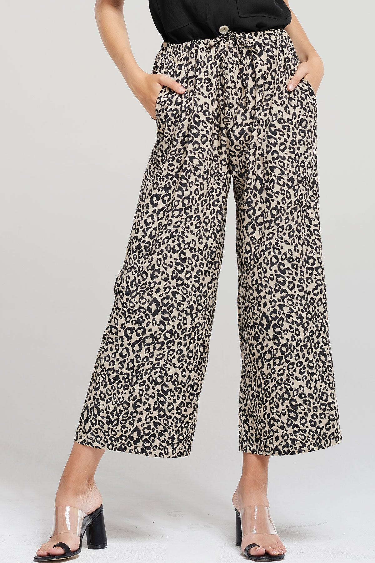 Sasha Leopard Print Long Pants