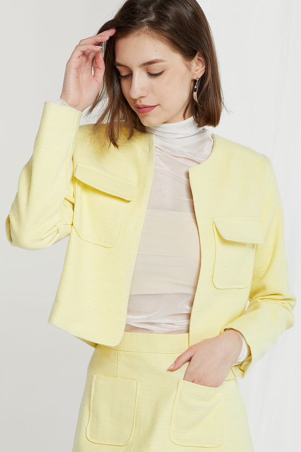 Siena Patch Pocket Crop Jacket