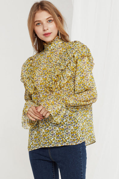 Sophie Floral Ruffle Blouse