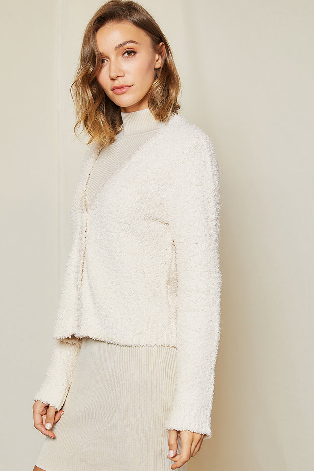 Deva Textured Sweater Cardigan