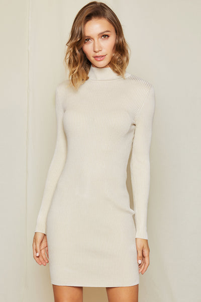 Delphi Bodycon Mock Neck Dress