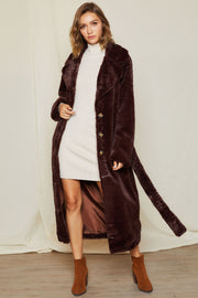 storets.com Olivia Double Breasted belted Fur Coat