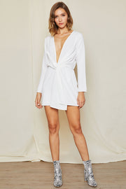 Lyra Twist Front Plunge Dress