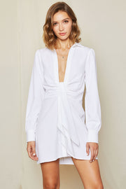 Della Front Twist Shirt Dress