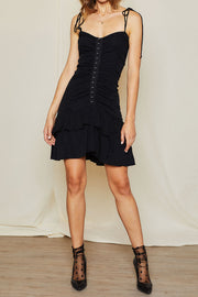 Rita Hook and Eye Ruffle Dress