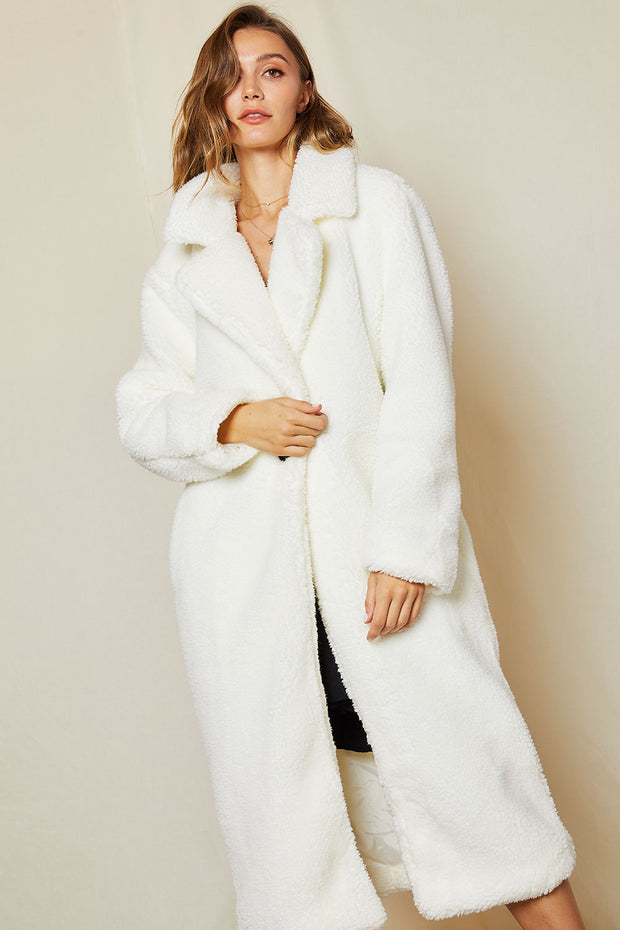Peggy Single Breasted Fur Coat